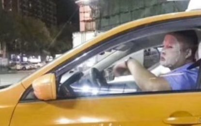 Chinese taxi driver suspended for wearing skincare face mask while driving