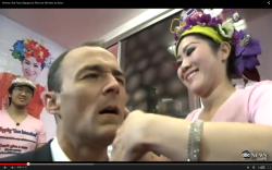 FUNNY Face Slapping to Remove Wrinkles at Salon VIDEO