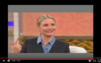 Cameron Diaz and Dr. Oz. on Aging VIDEO