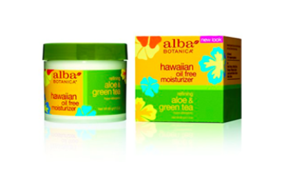 Alba Botanica – Hawaiian Aloe & Green Tea Oil-Free Moisturizer