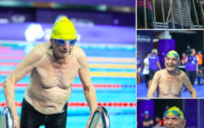 99-year-old swimmer breaks 50m freestyle world record