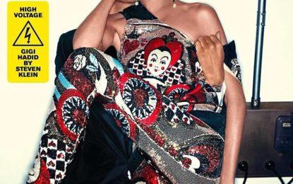 """Gigi Hadid in Vogue Italia as """"Black Face"""""""