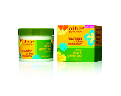 Alba Botanica – Hawaiian Aloe & Green Tea Oil-Free Moisturizer