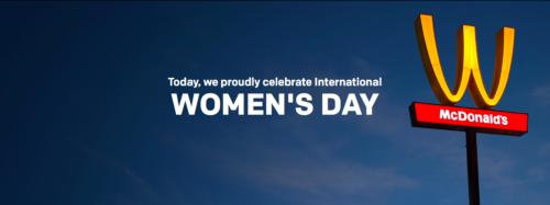McDonald's flips M for International Women's Day